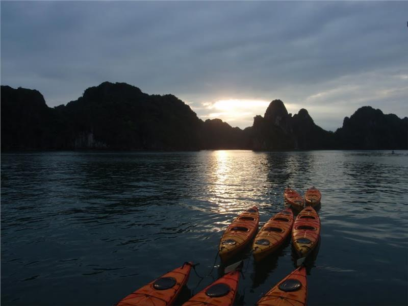 The Vang Isand at sunset