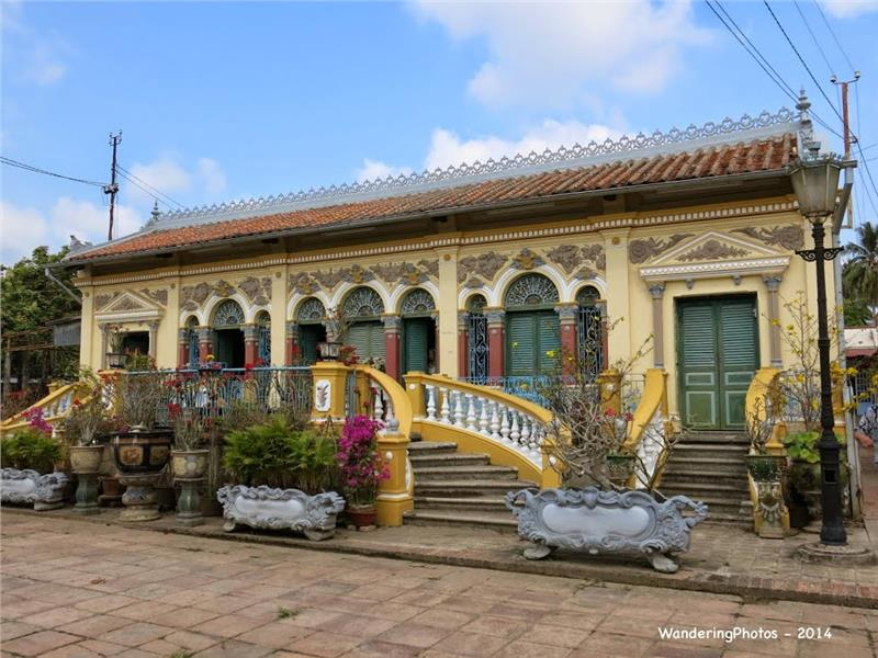 French Colonial-style house in Binh Thuy Village, Can Tho