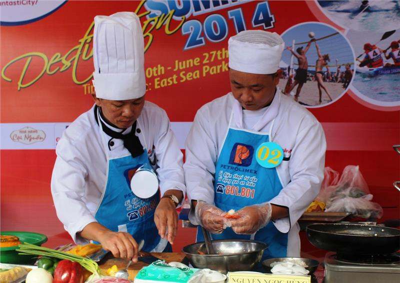 Chef contest in the festival