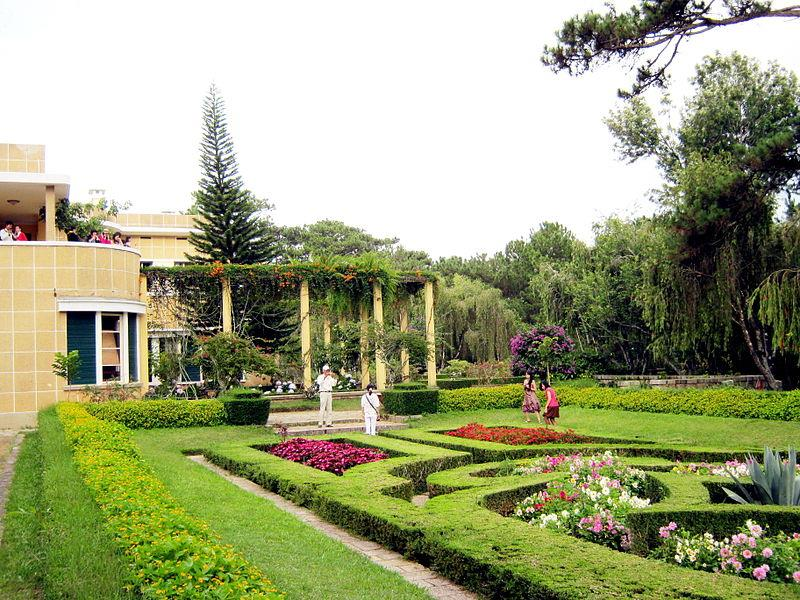 Flower Garden in Bao Dai Palace