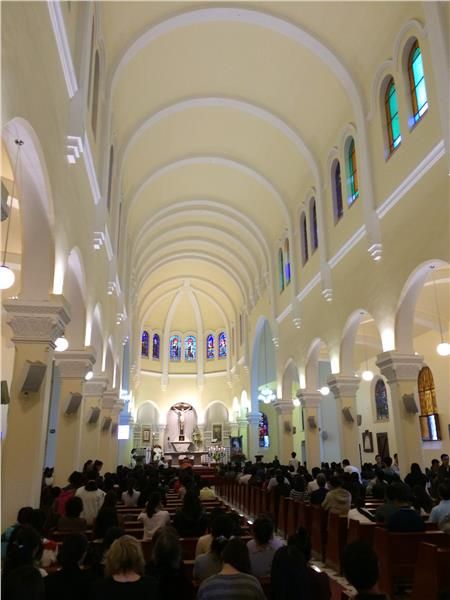 Inside Dalat Cathedral