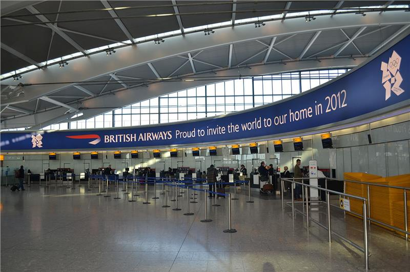 British Airways at Terminal 5 check in counter