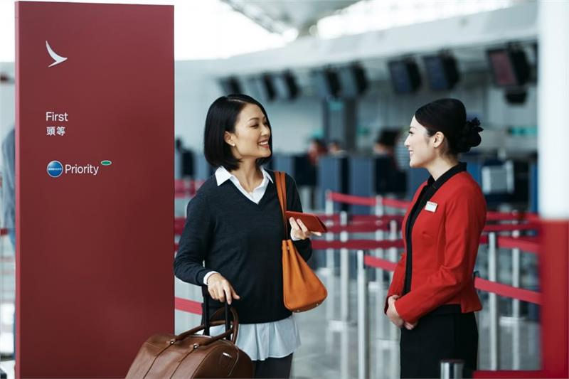Cathay Dragon check in area