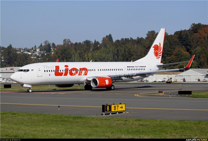 Thai Lion Air aircraft at Seattle
