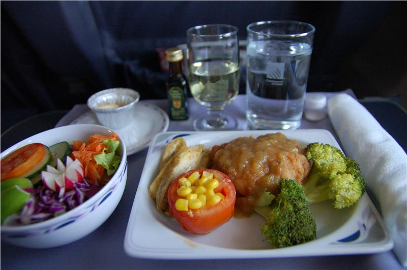 United Airlines inflight meal