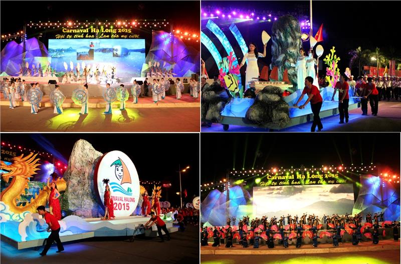 Performances in Halong Carnival 2015