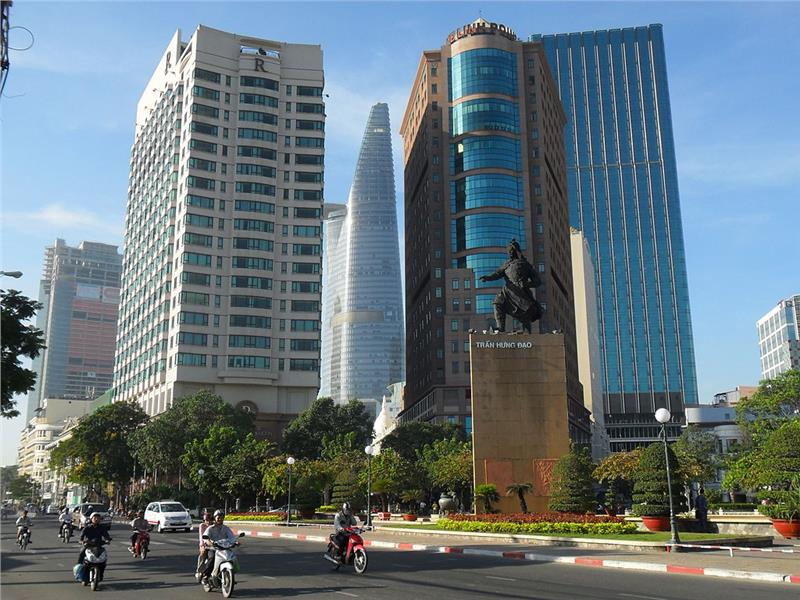 A part of downtown of Ho Chi Minh City