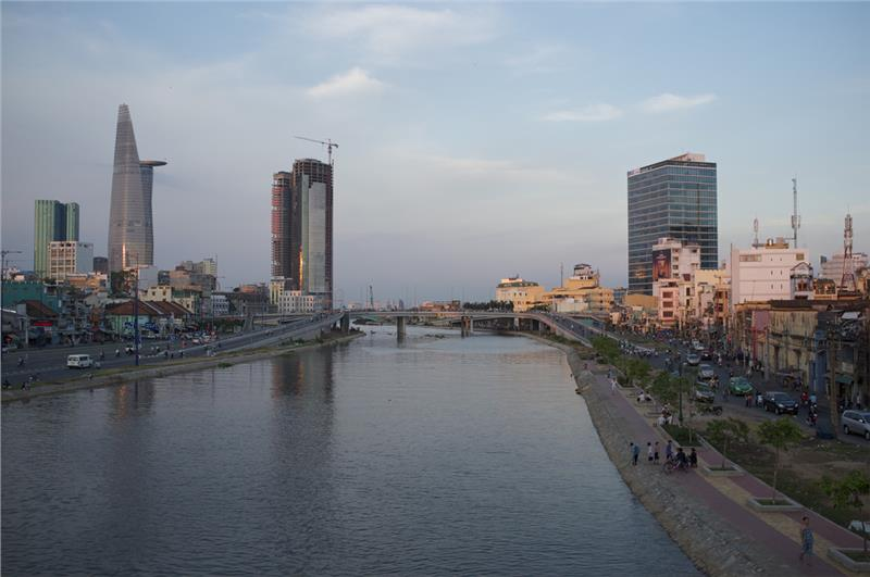 Ho Chi Minh City by the river