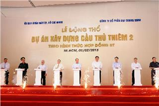 The groundbreaking of Thu Thiem 2 Bridge