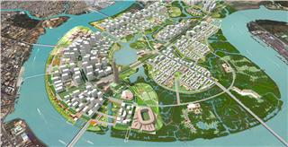 Thu Thiem new urban area of Ho Chi Minh City in future