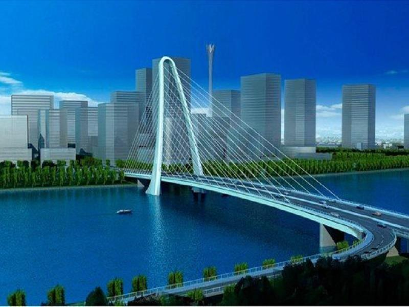The model of Thu Thiem 2 Bridge in future
