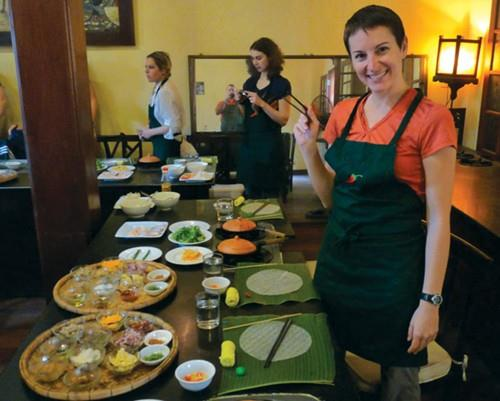 Tourists at Hoi An Cooking Class