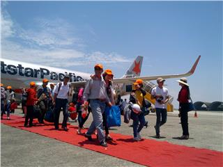 First Jetstar Pacific Ho Chi Minh - Chu Lai flight operated