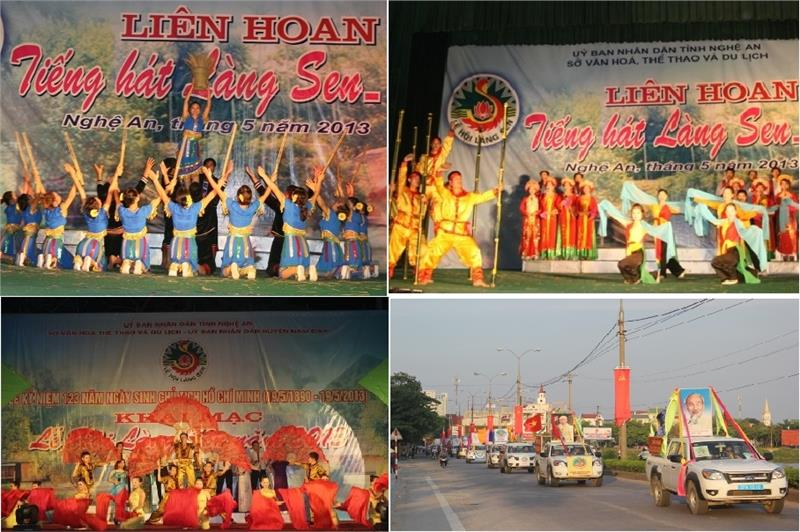 Performances in Lotus Village Festival in Nghe An