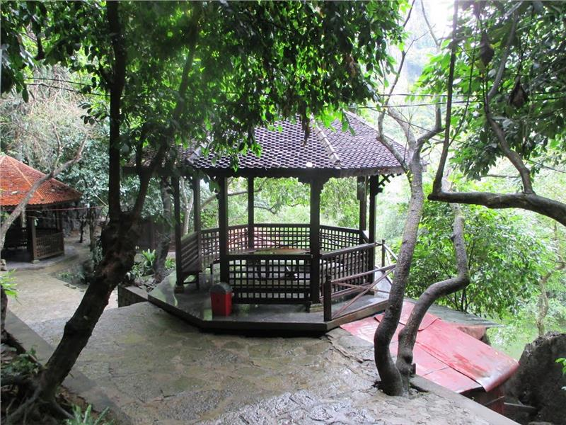 Octagonal-shaped house at Tran Temple