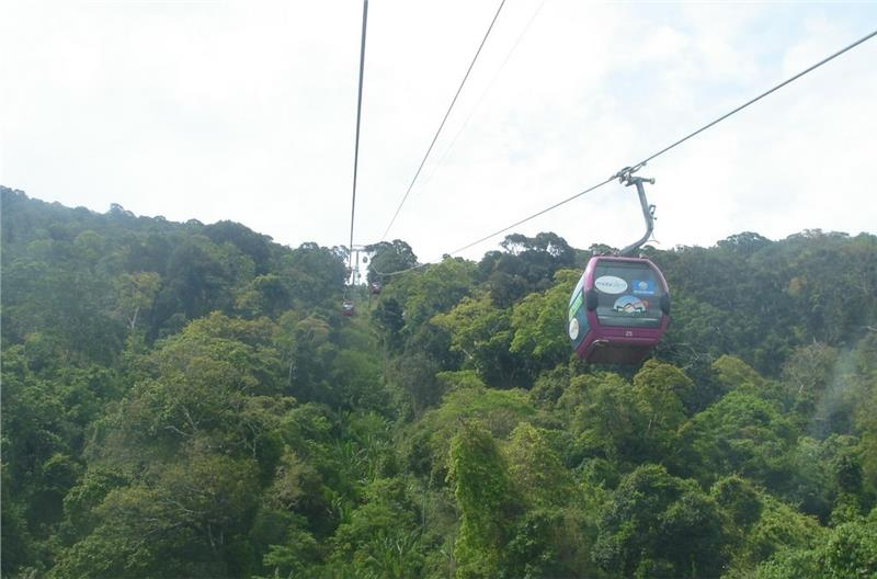 Cable car system at Ta Cu Mountain