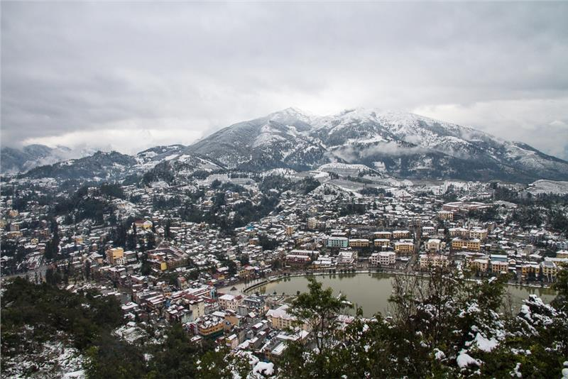 Sapa in snowing days