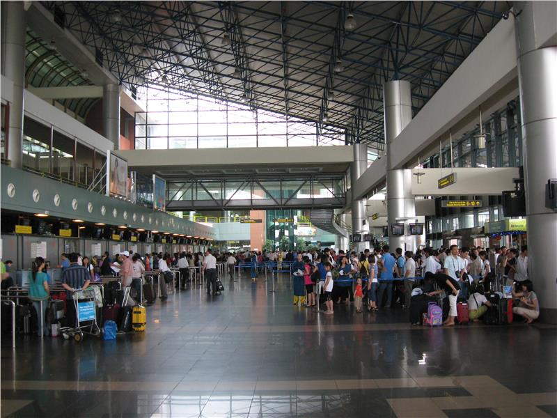 Check in area in Noi Bai International Airport
