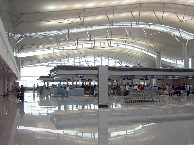 Check-in counter in Tan Son Nhat international airport