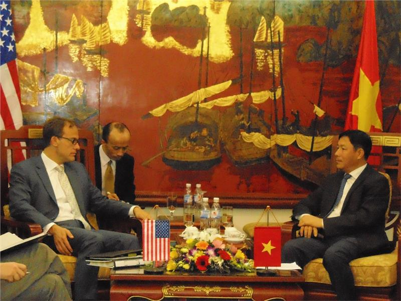 Ambassador Marantis and Minister of Vietnam Planning and Investment