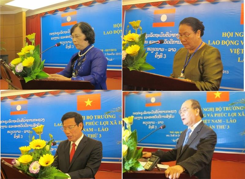 Speeches of leaders of Vietnam and Laos at the meeting