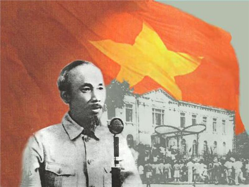 President Ho Chi Minh read Vietnam Declaration of Independence