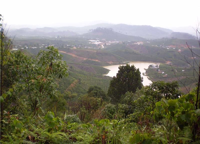 Highland area in Da K'Nang Commune, Dam Rong District, Lam Dong Province