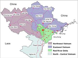 Northern Vietnam weather by regional patterns
