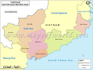 Southeast Vietnam geography overview