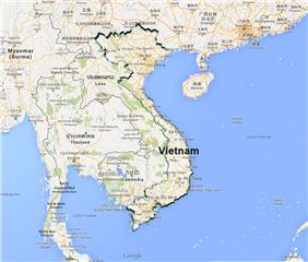 Vietnam area and border overview
