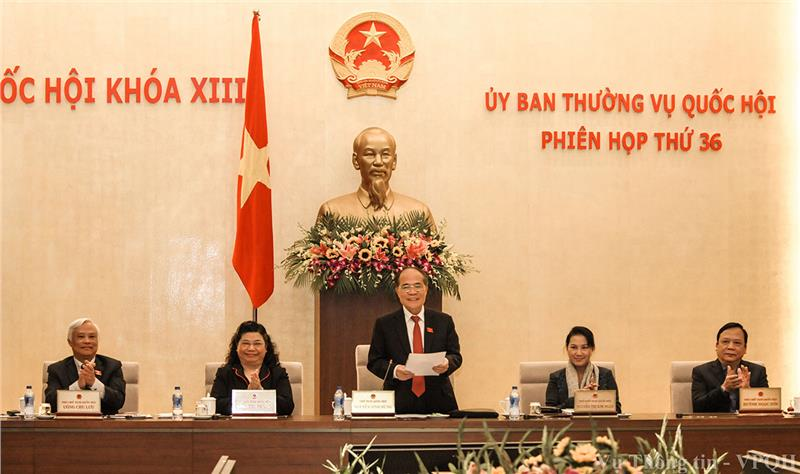 Mr. Nguyen Sinh Hung has a speech at the conference