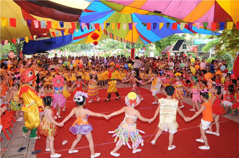 Children take part in exciting activities