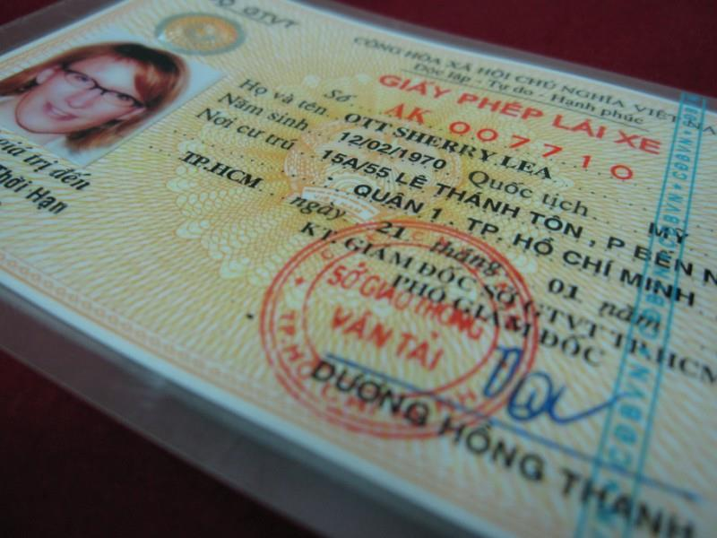 Procedure of getting a Vietnam driving license