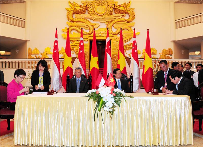 Signing ceremony of introducing ASEAN common stamps