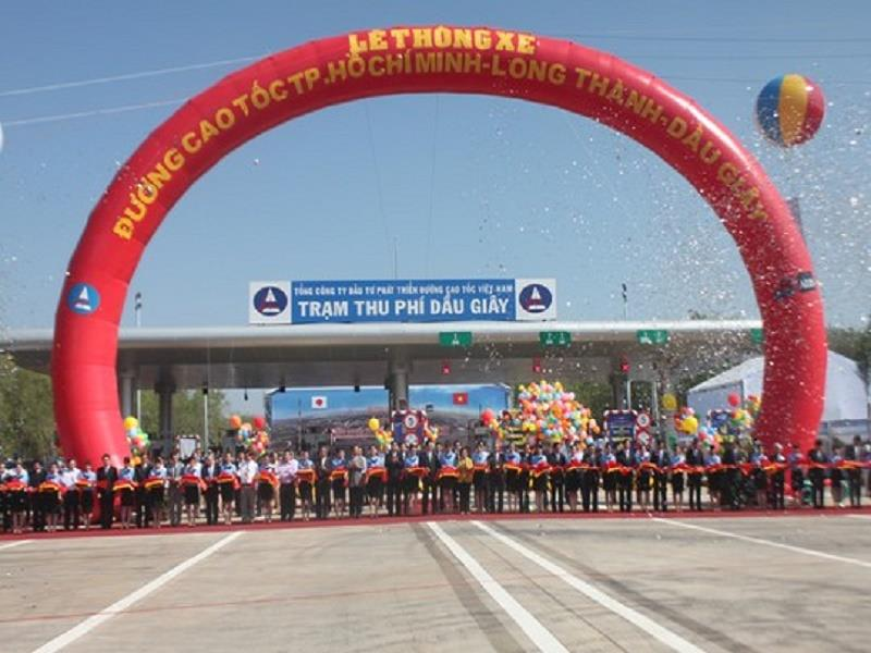 The opening ceremony of the expressway