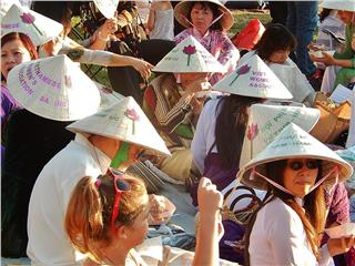 Charming Vietnamese conical leaf hats